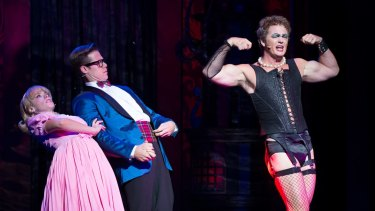 Craig McLachlan on stage during the production of The Rocky Horror Show.