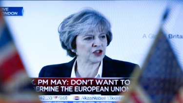 Deal at last: UK Prime Minister Theresa May.