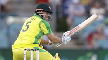 Aaron Finch top-scored with 34 from 23 balls despite nursing a noticeable limp.