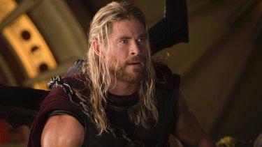 Chris Hemsworth as Thor.
