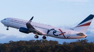 Rex launched Melbourne-Sydney jet services in March.
