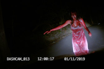 Two women come across a car accident late at night in the creepy Deadhouse Dark.