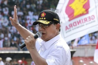 Joko Widodo will want to avoid negative publicity as he confronts presidential rival Prabowo Subianto (pictured).