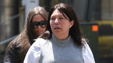 Roberta Williams (right) and  daughter Dhakota arrive at the Supreme Court in Melbourne on Friday.