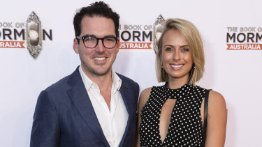 Peter Stefanovic with wife Sylvia Jeffreys in March this year.