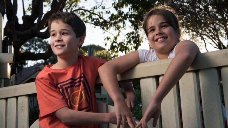 Twins Christos and Stella Georgakis.