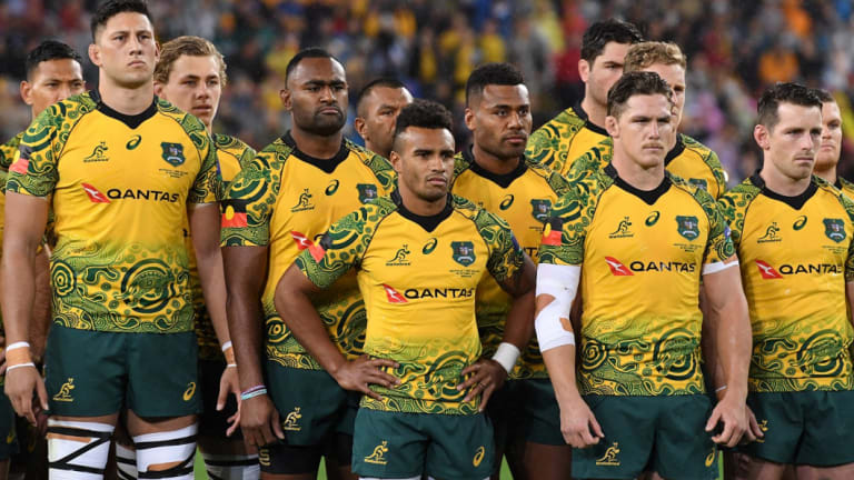The Kiwis or the Poms? Michael Cheika was coy on where the Wallabies Indigenous jersey would have its next outing.