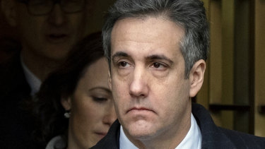 Trouble for Trump: his former lawyer Michael Cohen.