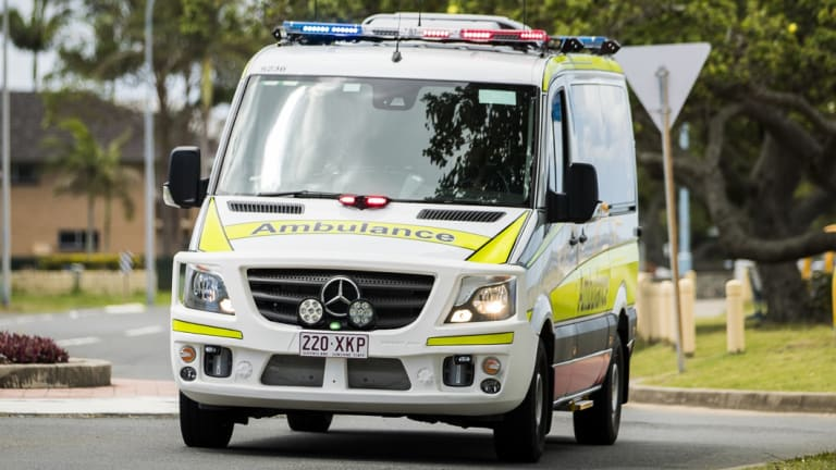A critical care paramedic was sent to the home in Brisbane's south to help treat the man.