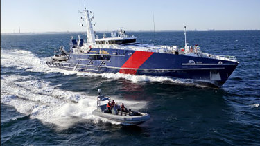 An Austal Cape class vessel built for Australian Border Force.