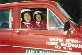 Virginia Bevan in the Targa Rally 1994.