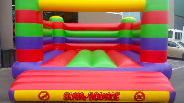 A jumping castle.