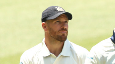 Aaron Finch has been subbed out of Victoria's Sheffield Shield game against NSW due to concussion.