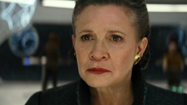 Carrie Fisher as General Leia in Star Wars: The Last Jedi.