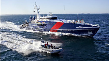 The ABF operates the Cape Class Patrol Boat fleet but bigger strategic responsibilities fall to Home Affairs.