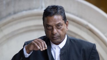 Deo Narayan outside the Downing Centre where he gave evidence in a drug importation trial.