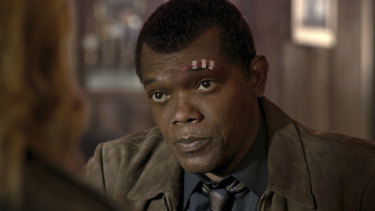 A de-aged Samuel L Jackson as Nick Fury appears throughout the film.
