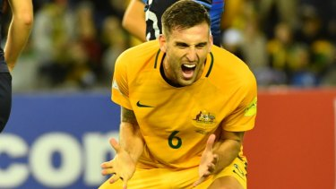 Shoring up the defence: Socceroo Matthew Spiranovic will be part of Perth's new-look backline.