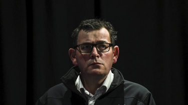 Daniel Andrews on Saturday.