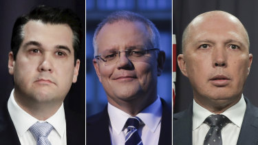 Dutton-backer Michael Sukkar, and leadership contenders Scott Morrison and Peter Dutton