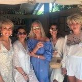 Julie Bishop celebrating her 63rd birthday in St Tropez with Jill Hoad,  Wendy Marshall, Denise Satterley and Rhonda Wyllie.