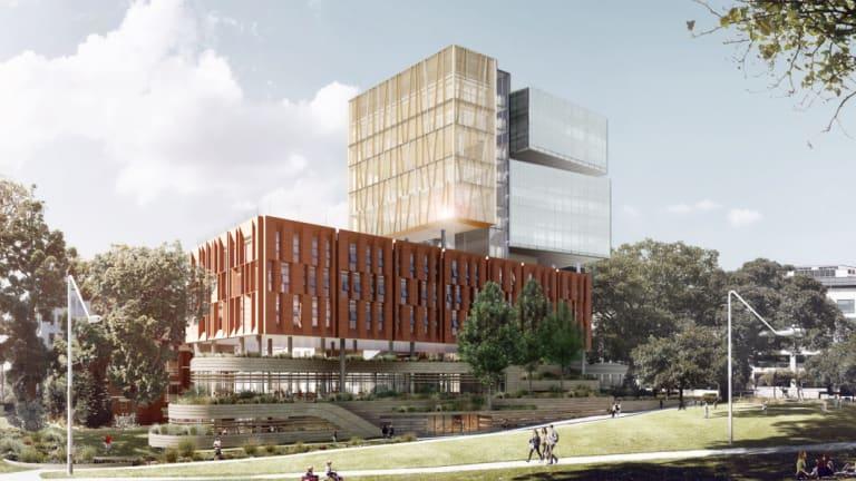 An artist impression of the new Inner Sydney High School.