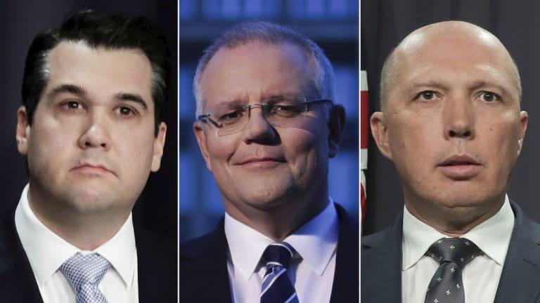 Dutton-backer Michael Sukkar, and leadership contenders Scott Morrison and Peter Dutton