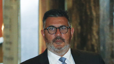 Andrew Demetriou was pulled up for bringing his own notes to the Crown Inquiry.