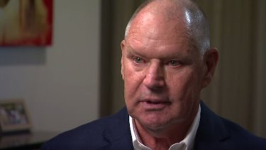 former Melbourne mayor Robert Doyle appearing on 3AW, tearfully apologising for the hurt his actions caused - but admitting he had not contacted his victims to offer them a apology.