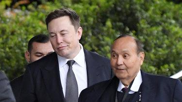 Tesla CEO Elon Musk at the trial earlier this week.