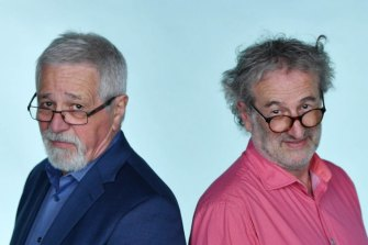 AM radio Talk back hosts - Neil Mitchell and John Faine.