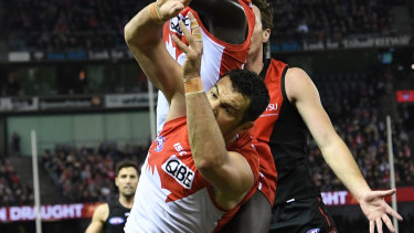 """Going through the motions: Heath Grundy says he felt like a """"zombie"""" against Essendon."""