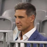Matthew Pavlich looks on from the stands during the round six AFL match between Fremantle and North Melbourne.