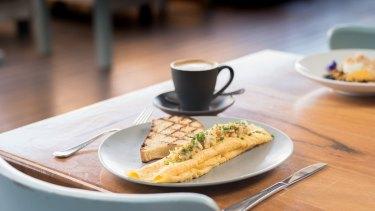 Blue Swimmer crab omelette at the Shorehouse.