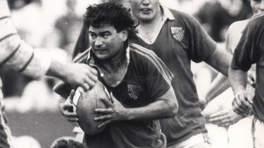 Where it all began: Eddie Jones playing for Randwick in 1987.
