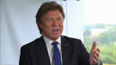 The golden locks of Richard Wilkins are prime for TV soaps.