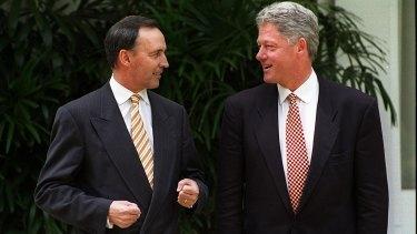 Paul Keating and Bill Clinton in Jakarta, 1994.