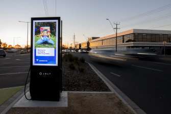A JOLT fast charging station in operation in Adelaide.