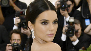Kendall Jenner attends the Mat Gala in New York on May 7.