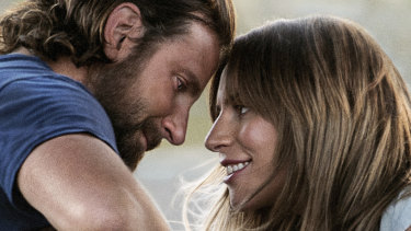 Bradley Cooper, left, and Lady Gaga in a scene from A Star is Born.