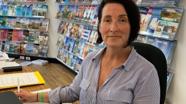 Christine Ross owns Attadale Travel and has been running at a loss for more than four months since the virus hit.