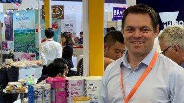 ViPlus Dairy chief executive Jon McNaught.