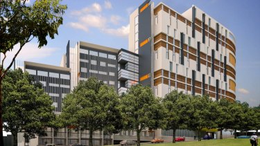 The proposed development at The Block would house up to 600 students.