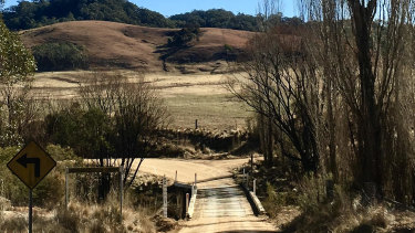 A bridge with no name, but with ample charm, greets Elizabeth Farrelly on the approach to her property.