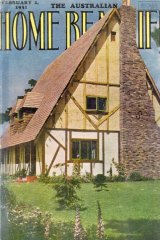 The Esme Johnston house on the cover of Home Beautiful in 1931.