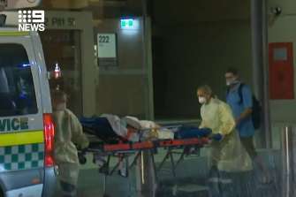Three children were stretchered out of the Hilton Hotel on Tuesday night.