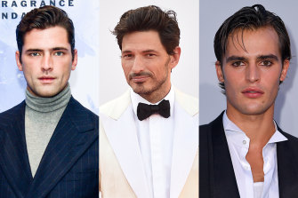Model hair: Sean O'Pry, Andres Velencoso and Parker Van Noord.