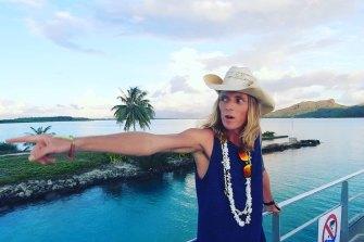 Jake arriving in Bora Bora, the top of his bucket list.