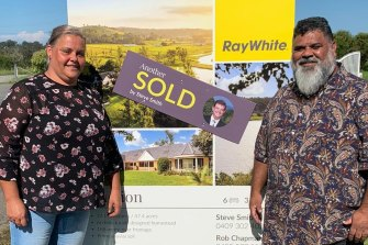 Latrell Mitchell has bought his parents, Patricia and Matt, a house.