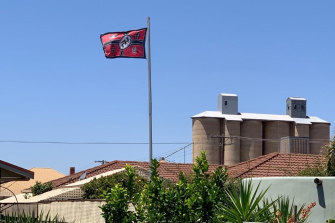 Several neighbours have complained to police about the flag.